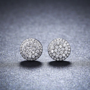 Other - GORGEOUS Silverplate Halo CZ UNISEX Studs